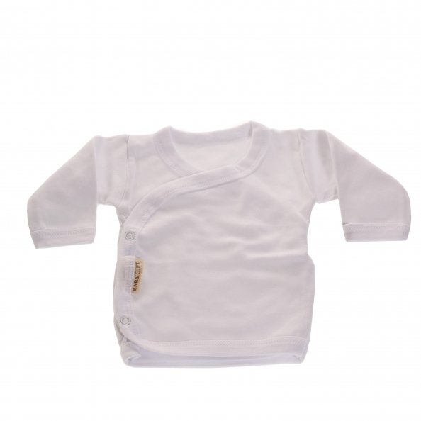 חולצת מעטפת לבנה