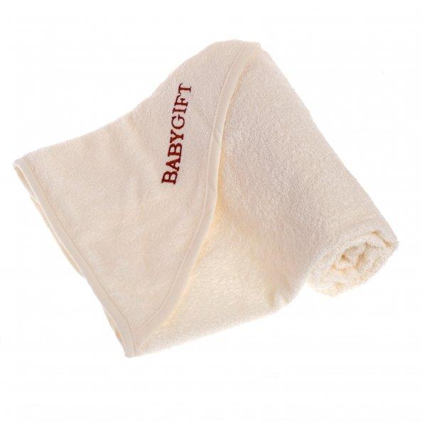 מגבת קפוצ'ון בצבע שמנת