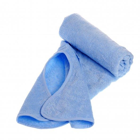 מגבת חיבוקי בצבע תכלת