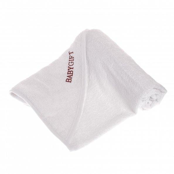 מגבת קפוצ'ון בצבע לבן